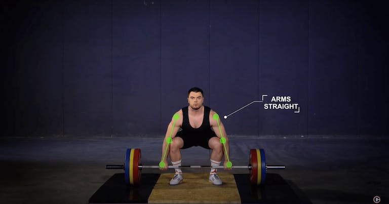 clean - arms straight